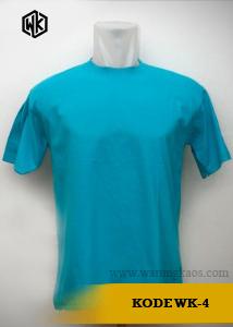 contoh kaos polos biru muda