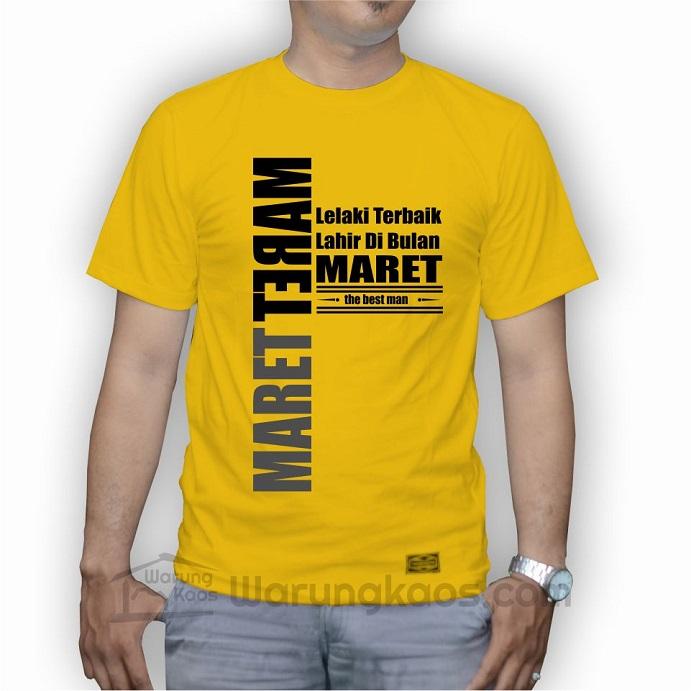 Kaos Lelaki Maret Kuning