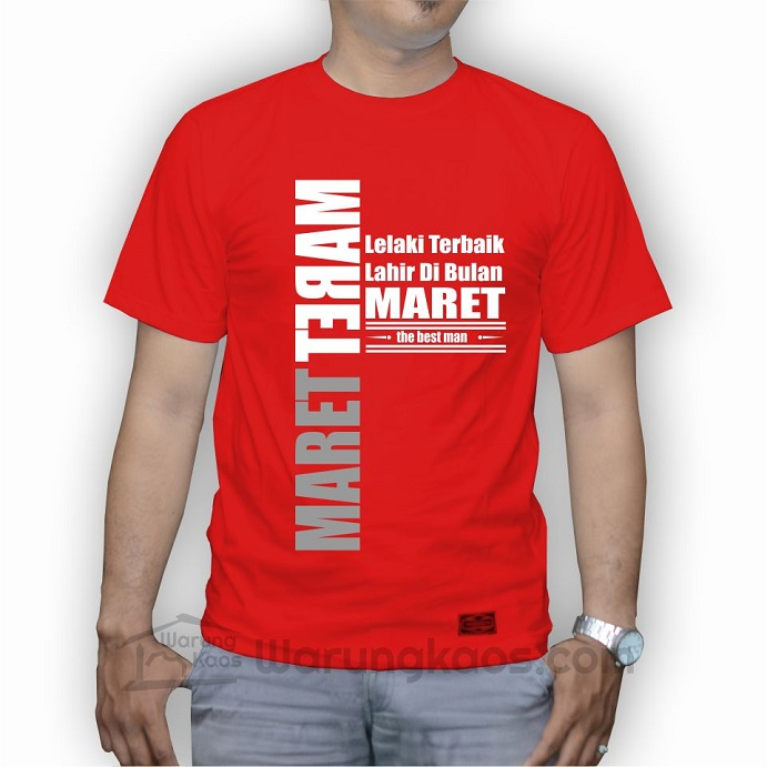 Kaos Lelaki Maret merah