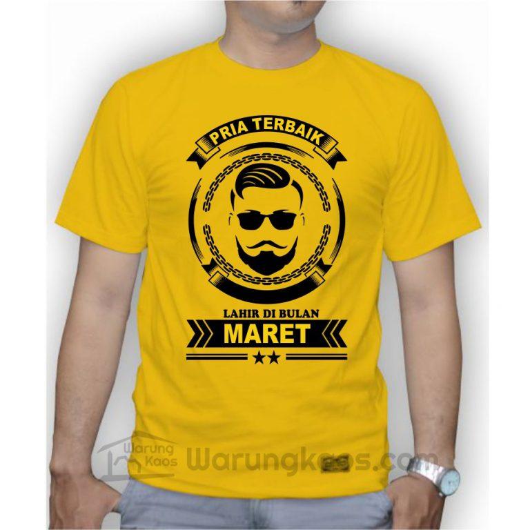 Kaos Pria Maret Kuning