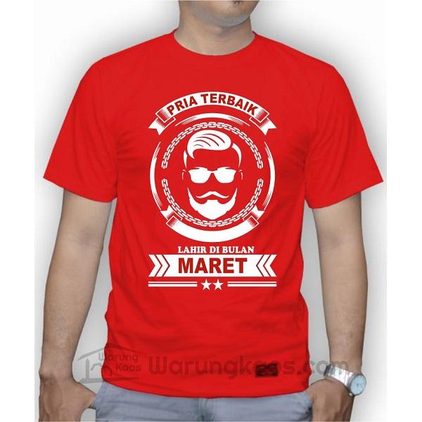 Kaos Pria Maret Merah