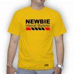 kaos newbie warna kuning